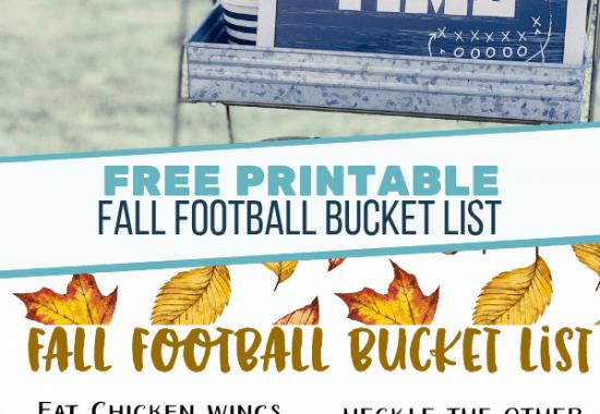 Fall Football Bucket List