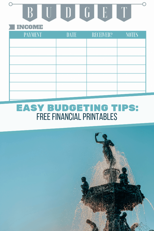FREE FINANCIAL PRINTABLES