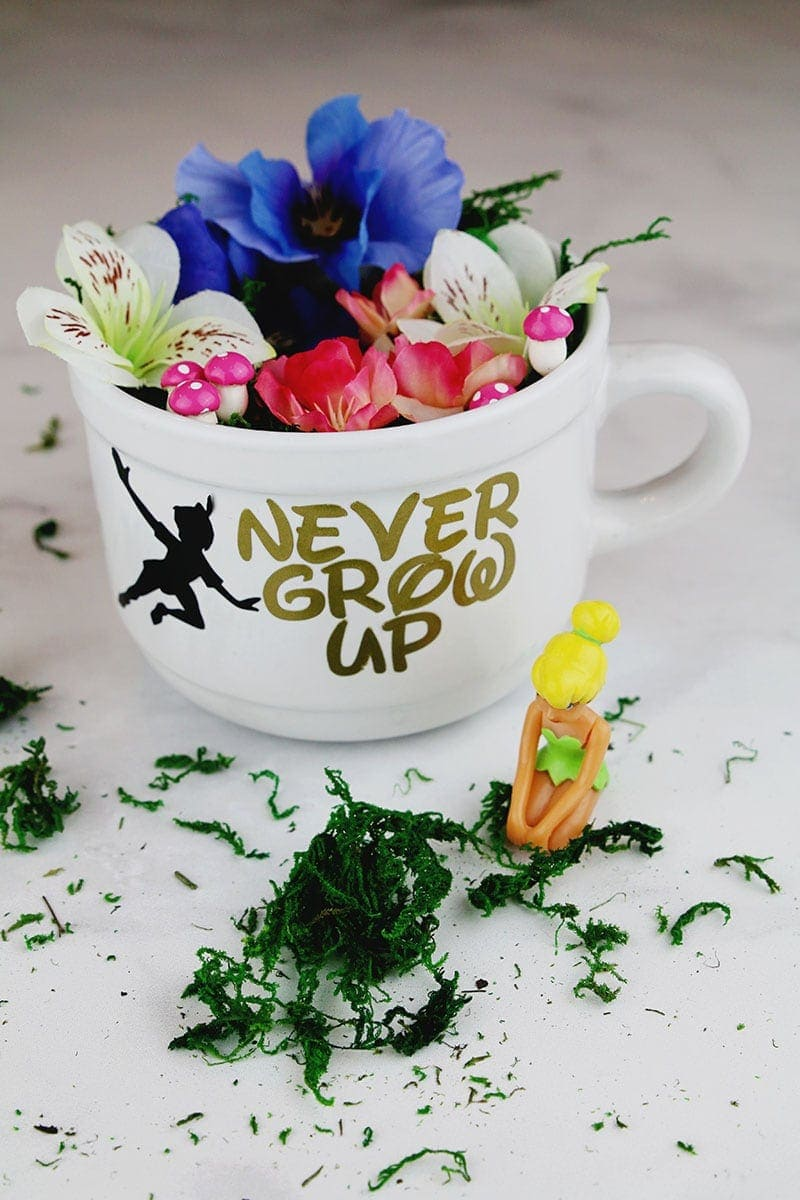 Dollar Tree Teacup Tinkerbell Fairy Garden