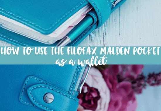 How to Use a Filofax as a Wallet | Filofax Malden Pocket