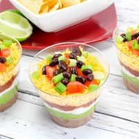 Layered Taco Dip Cups