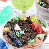 Digging for Dinos Treat Cups: Dinosaur Dessert Idea