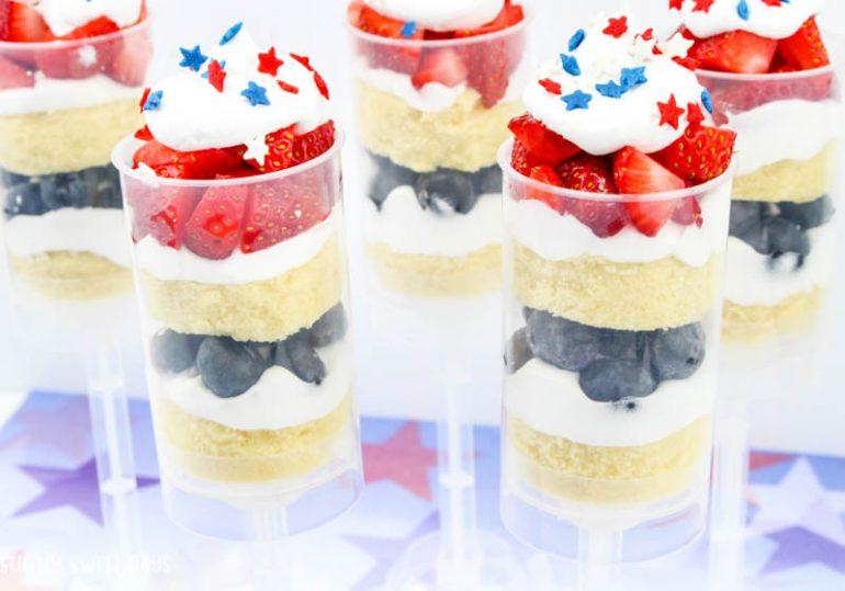 Patriotic Fruit & Cake Push Pops