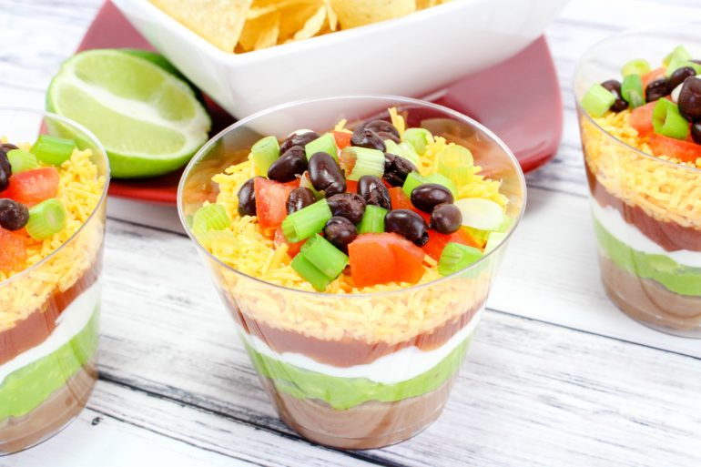Mexican Layered Dip Cups Recipe