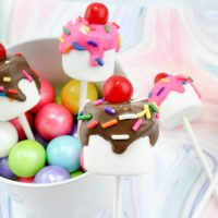 Ice Cream Sundae Marshmallow Pops Dessert