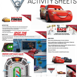 Free CARS 3 Activity Sheets #Cars3