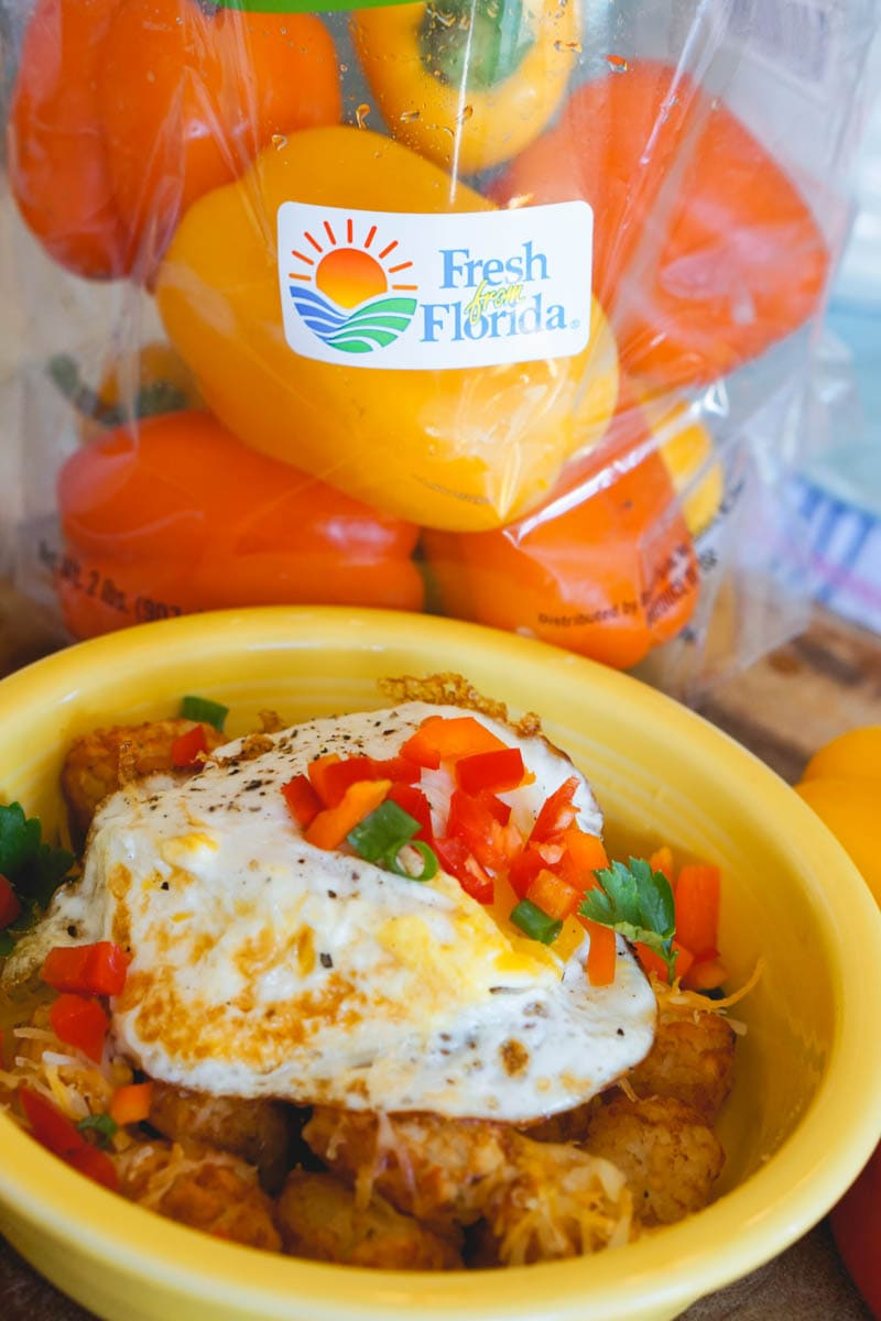 Fresh From Florida Pepper Breakfast Bowl With Tater Tots