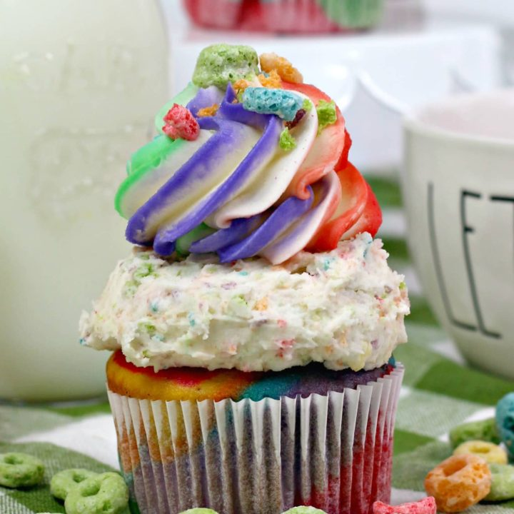 Fruit Loops Rainbow Cupcakes Recipe