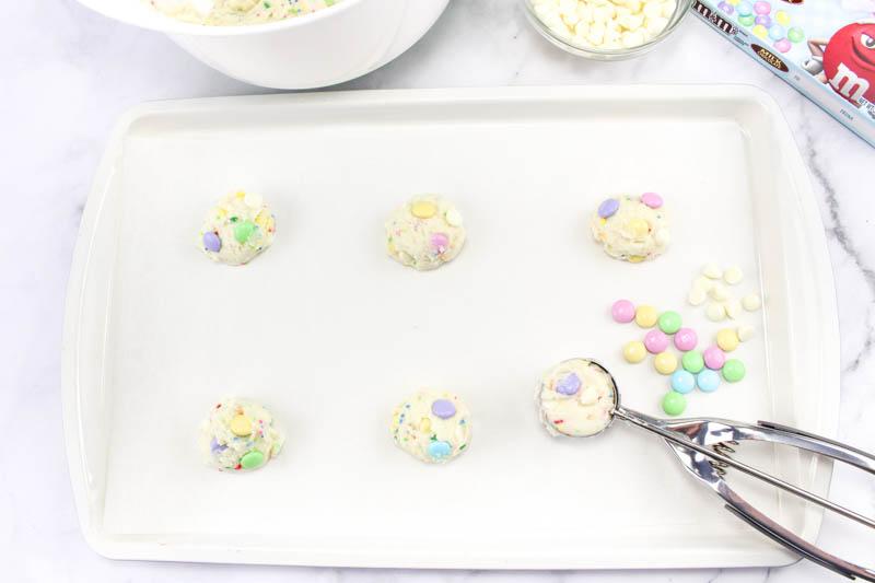 Easter Funfetti Cake Cookies