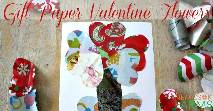 Gift Wrap Valentine Flowers