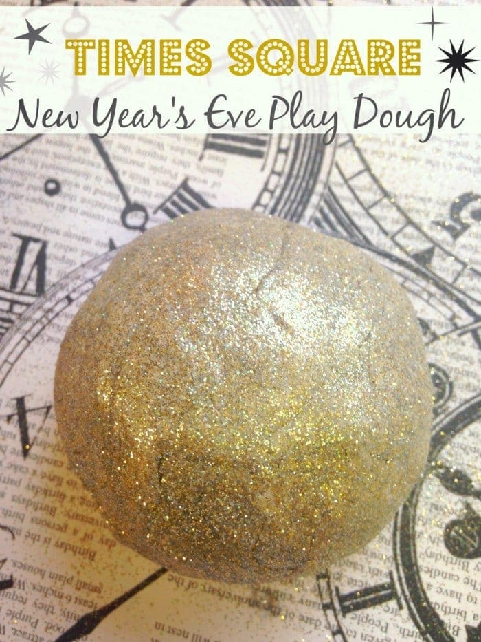 Gold Glitter Play Dough