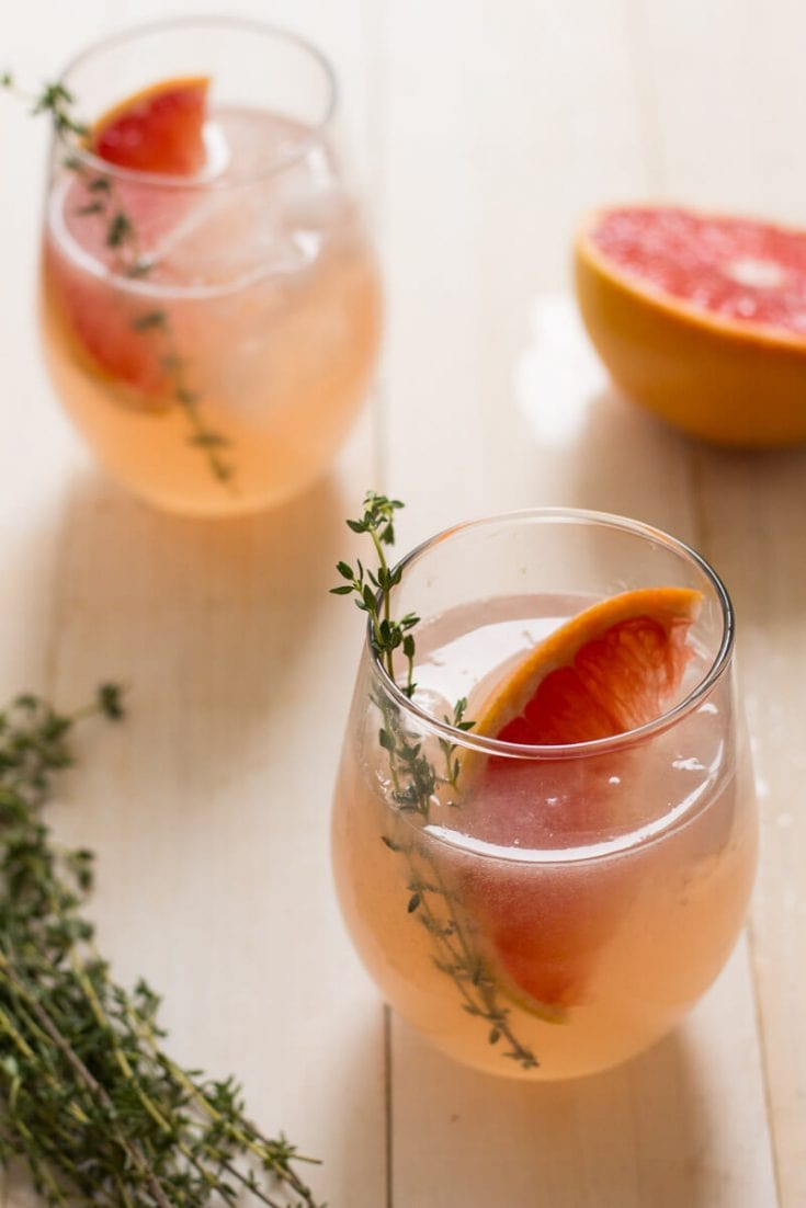 Grapefruit, Thyme & Elderflower Cocktail