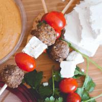 Greek Hummus Skewers