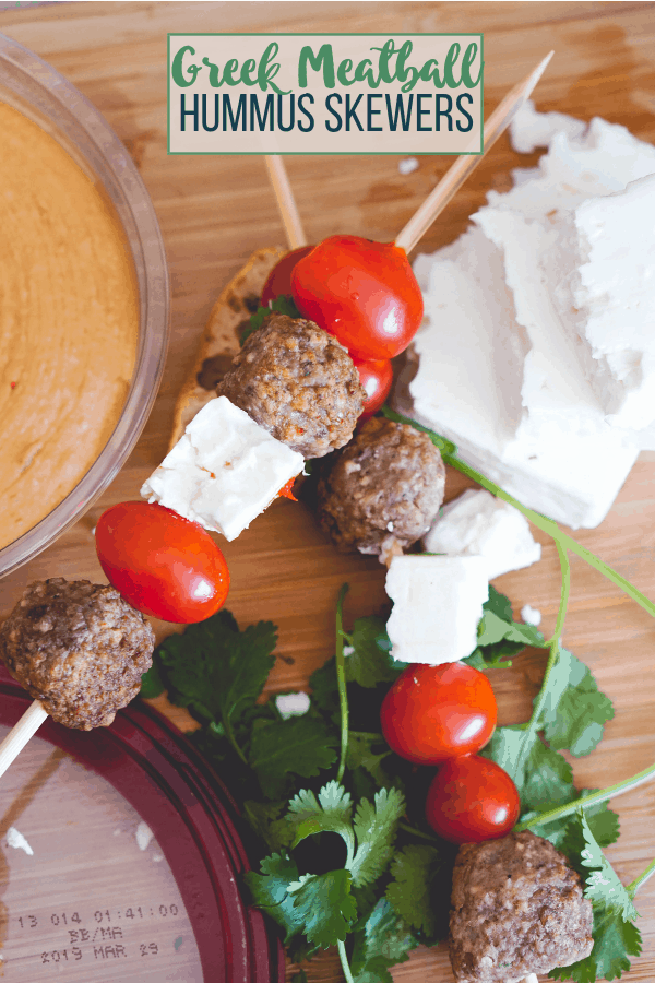 Greek Hummus Skewers
