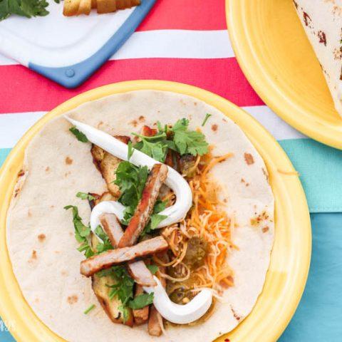 Grilled Tropical Pork Tacos