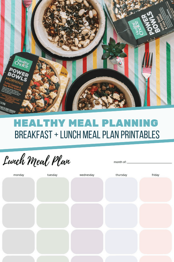 Meal Planning Tips: Lunch Meal Plan Printable