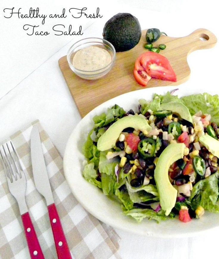 Healthy and fresh taco salad