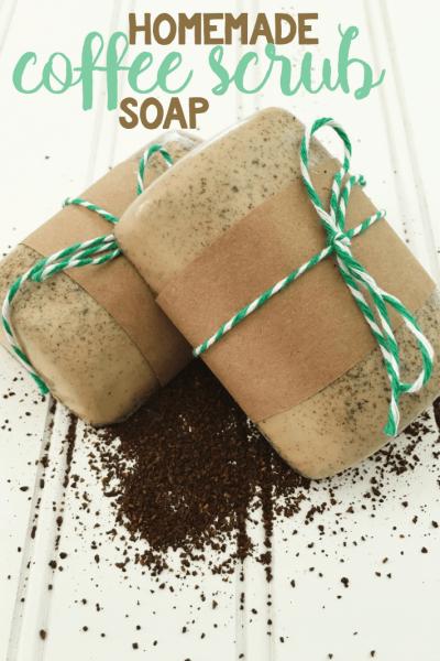 Homemade Coffee Scrub Soap