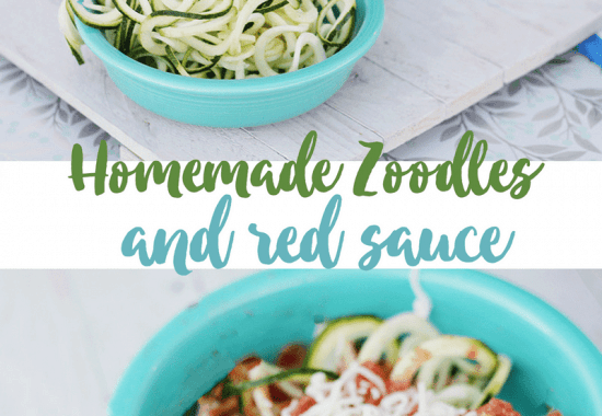Whole30 Pasta Idea: Zoodles and Sugar-Free Red Sauce
