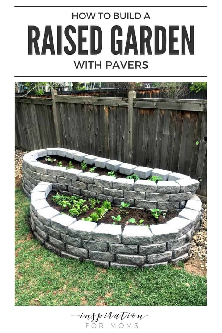 How To Build A Raised Garden with Pavers