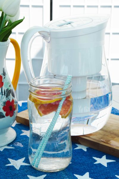 How to Drink More Water: Filtered Infused Water