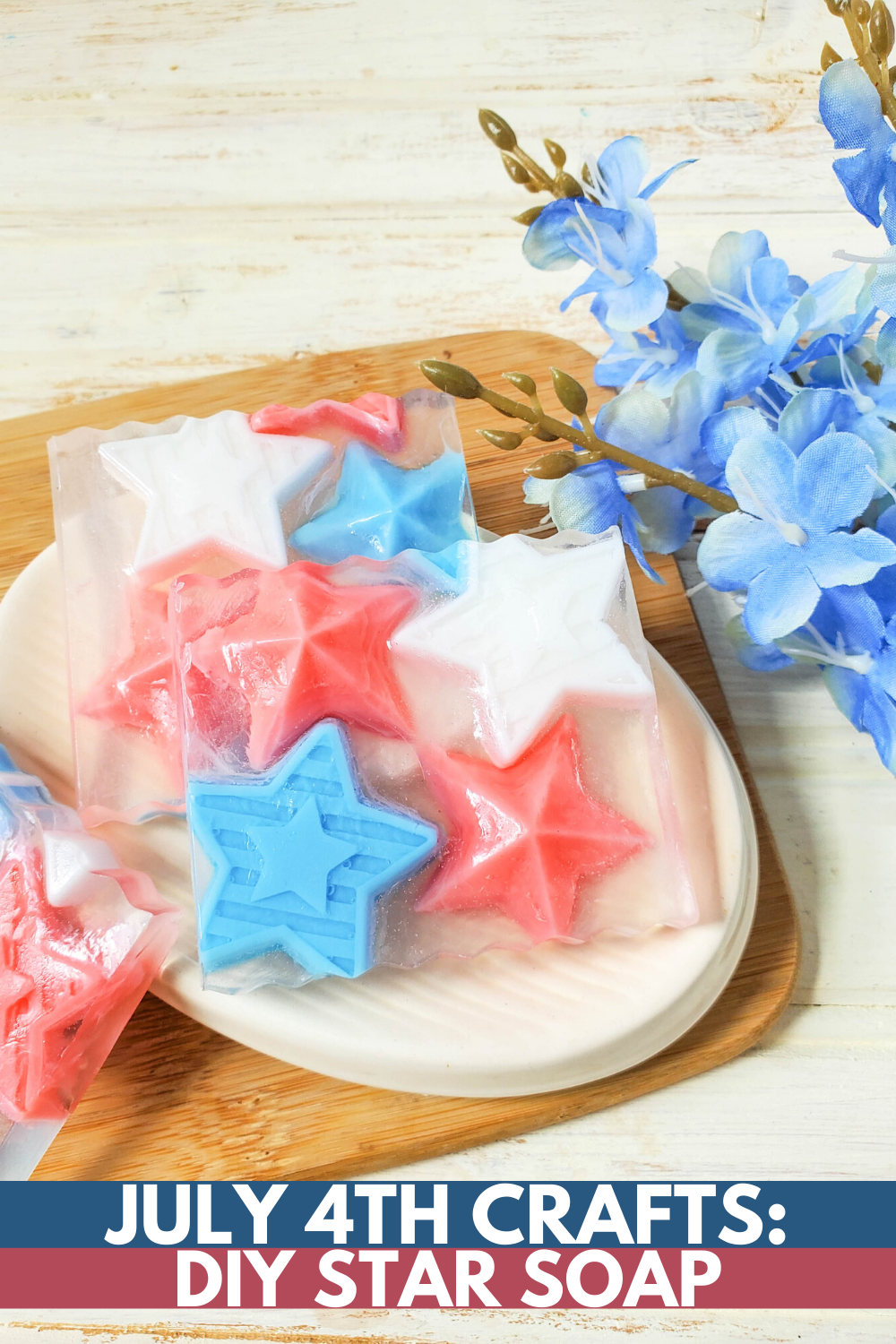 How to Make Soap: July 4th Star Soap DIY
