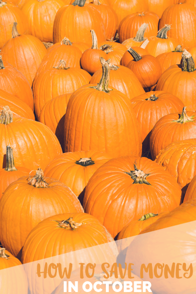 How to Save Money in October