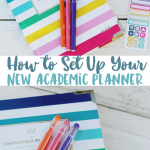 How to Set Up Your New Planner | Planner Printables