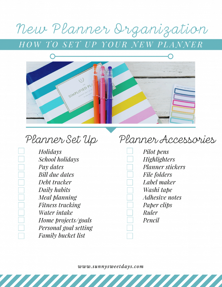 How to Set Up Your New Planner
