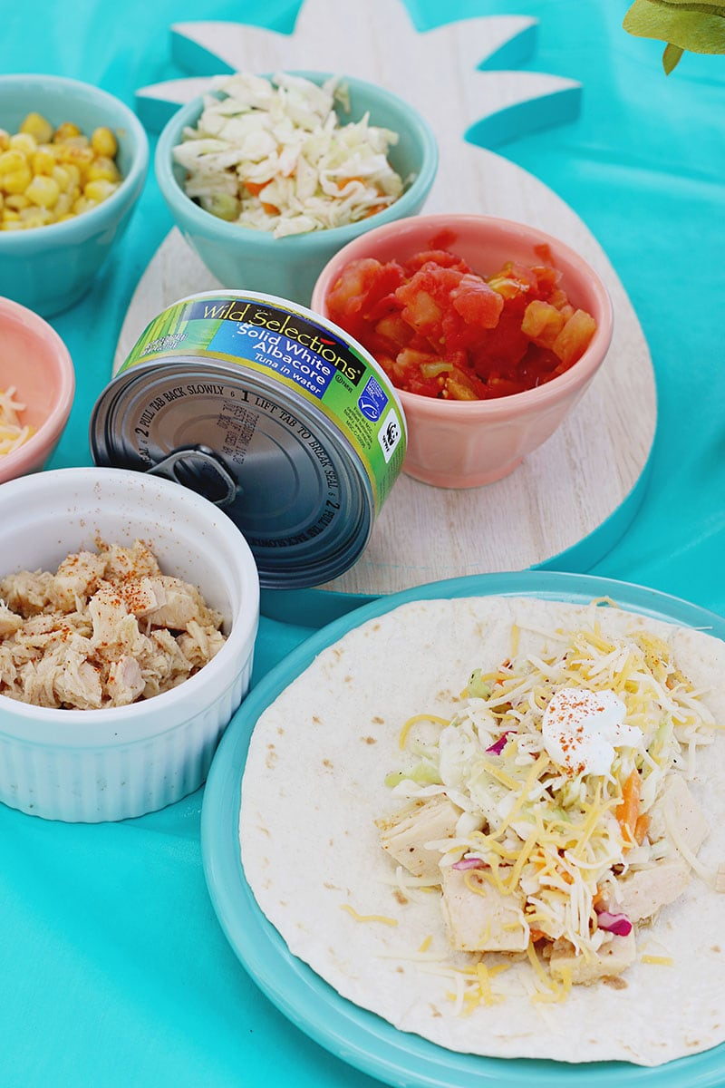 How to Set Up a Tuna Taco Bar