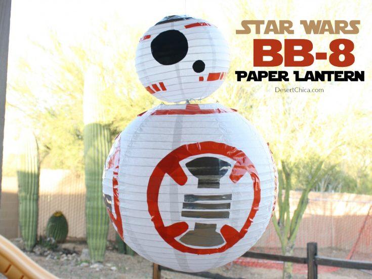 DIY Star Wars BB-8 Paper Lantern