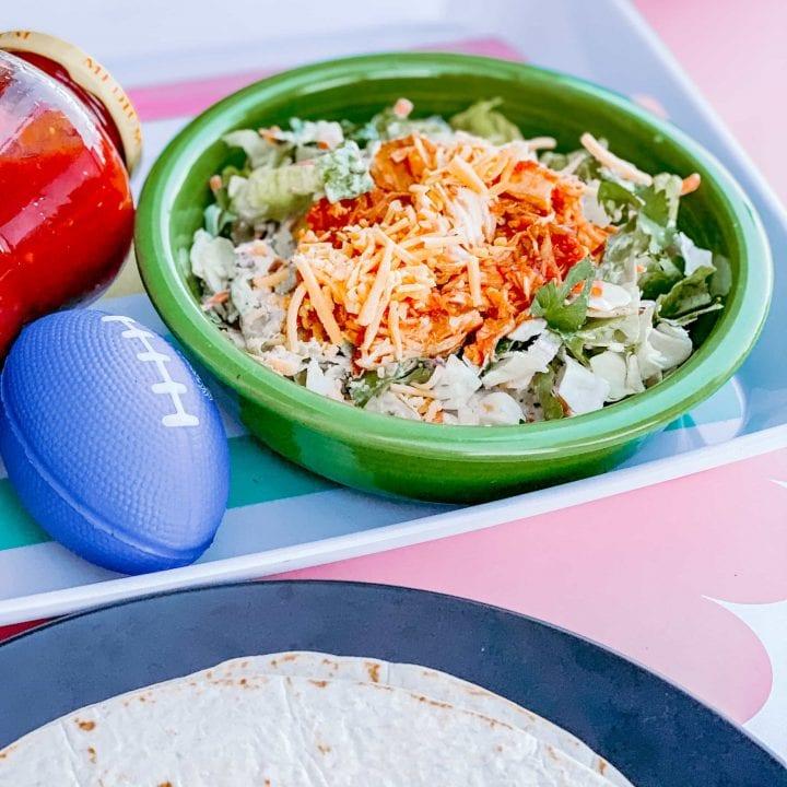 Slow Cooker Salsa Chicken Salad