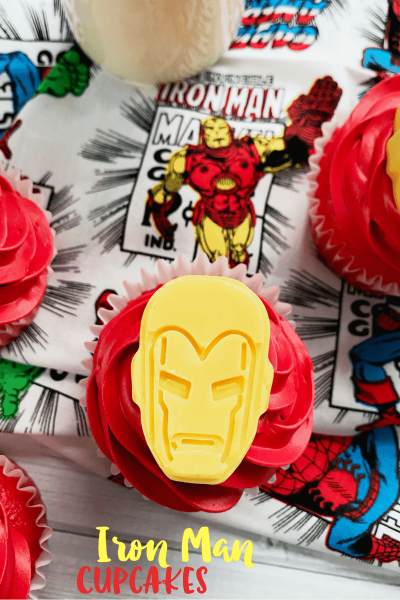 Superhero Cupcakes: Iron Man