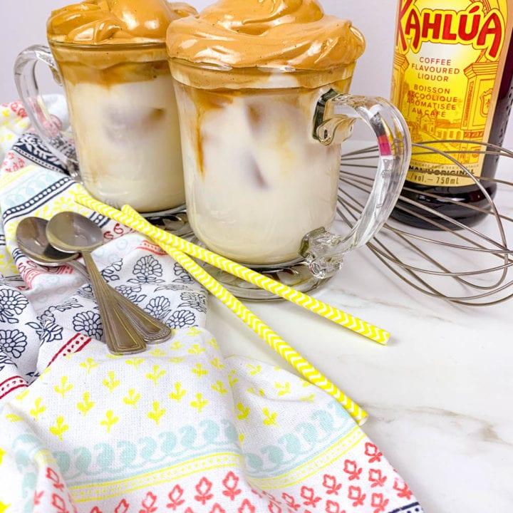 Boozy Whipped Coffee: Dalgona Coffee Recipe