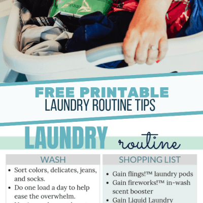 Scent Savvy Laundry Tips: Laundry Routine Printable