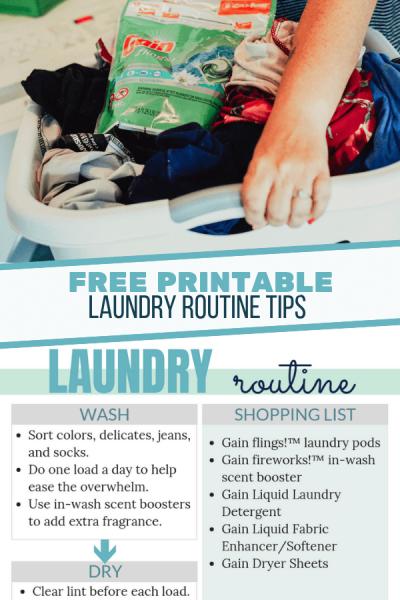 Laundry Routine Printable