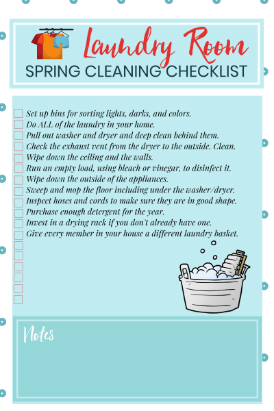 Laundry Cleaning Printable