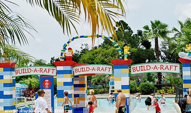Legoland Water Park Build a Raft