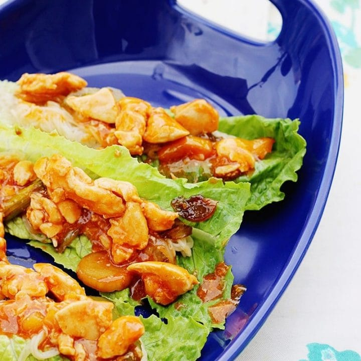 Sweet and Sour Chicken Lettuce Wraps