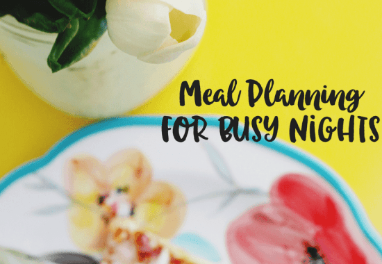 Meal Planning For Busy Nights: Meal Planning Printable