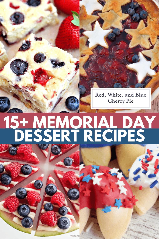 15+ Patriotic Memorial Day Desserts