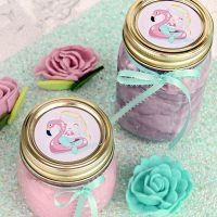 Pink Mermaid Slime With Printable