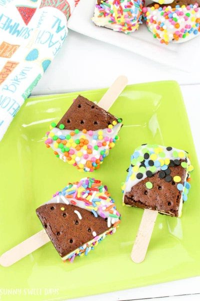 Mini Ice Cream Sandwich Pops