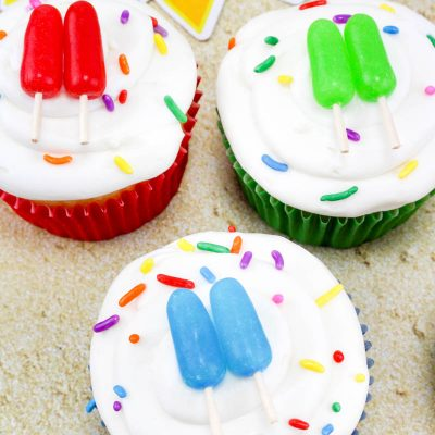 Beach Themed Party Mini Popsicle Cupcakes