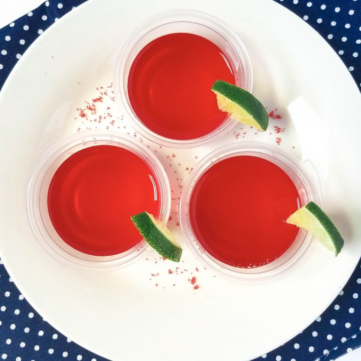 Raspberry Margarita Jello Shots