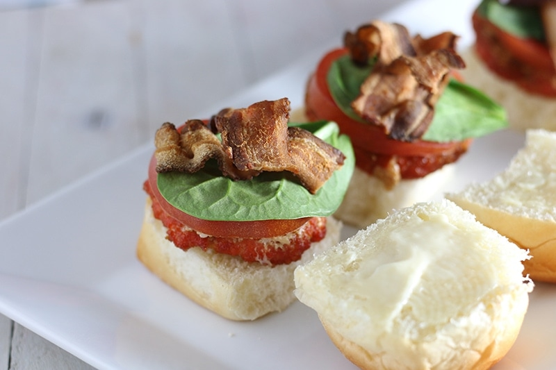 Salmon BLT Sliders