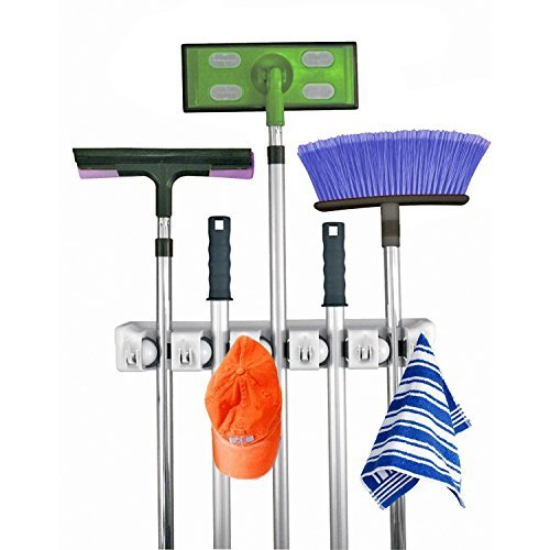 Mop and Broom Storage System