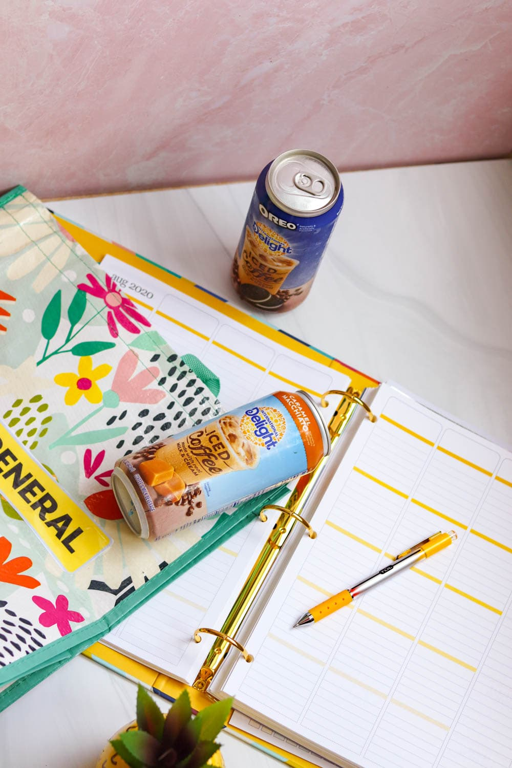 Project Planner Printables: Iced Coffee and Plan!