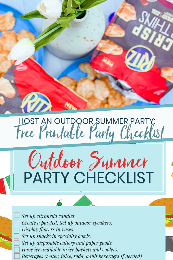 Outdoor Summer Party Printable Checklist