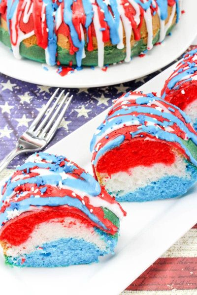 Patriotic Cake: Red, White and Blue Dessert